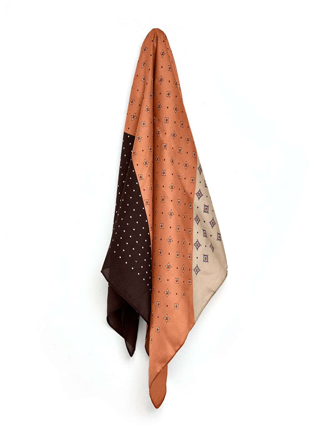 FOULARD ROSE  FANTASIA MARRONE