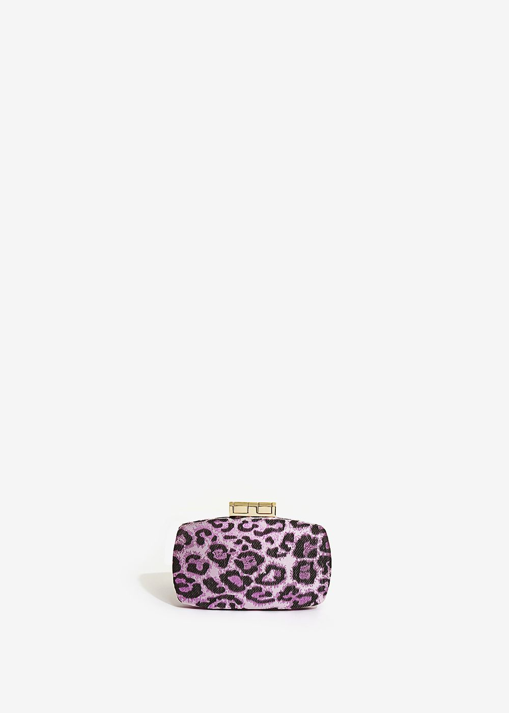 CLUTCH IN BROCCATO LEOPARDATO VIOLA