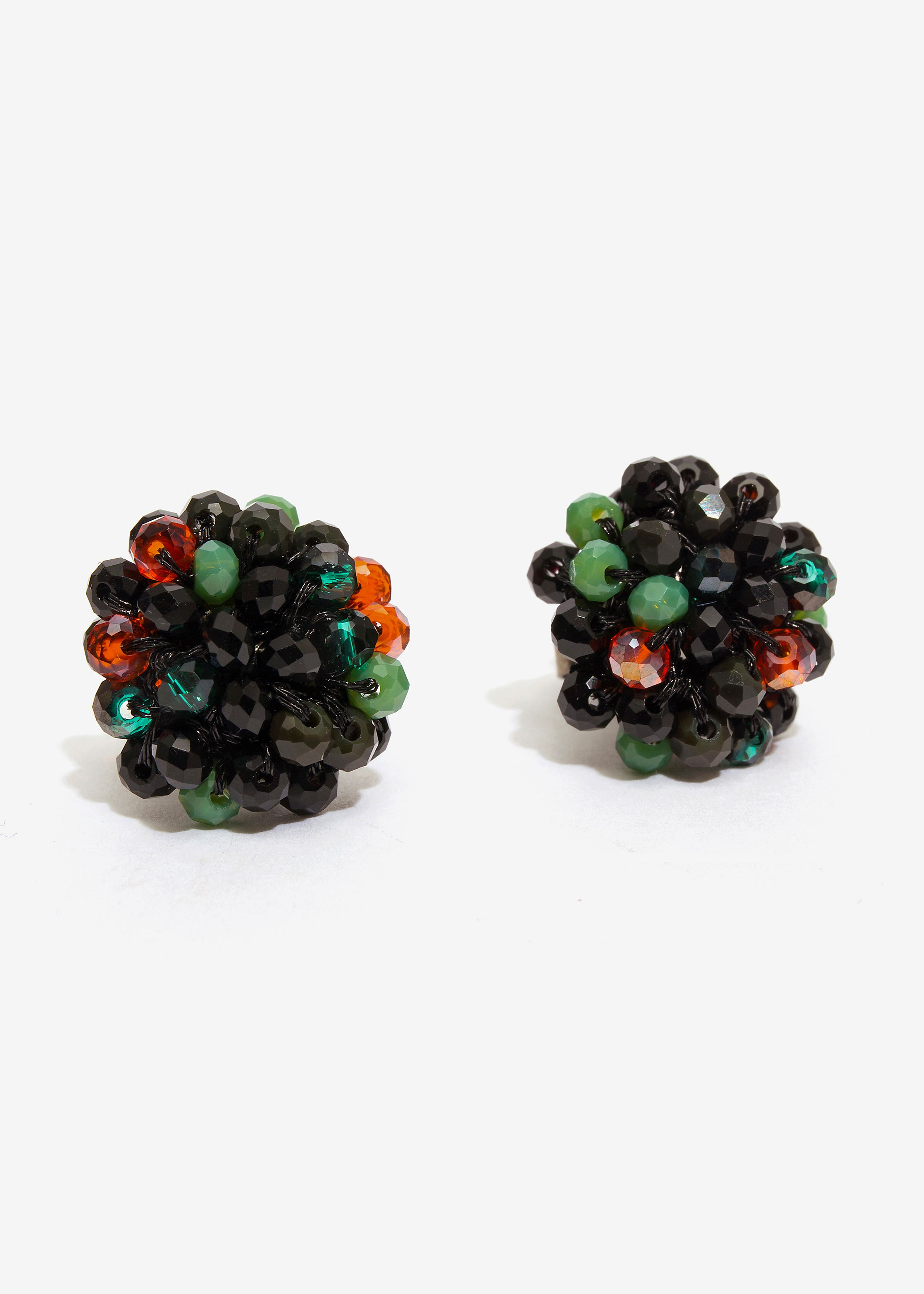 ORECCHINO LOBO BEADS MIX VERDE