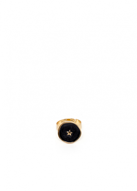 ANELLO ILARY PLACCATO IN ORO 14KT NERO