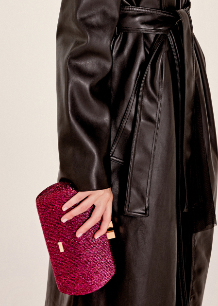 CLUTCH A COSTINE LUREX FUCSIA